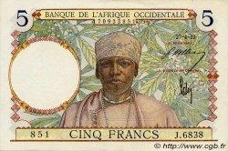 5 Francs type 1934 AFRIQUE OCCIDENTALE FRANÇAISE (1895-1958)  1939 P.21 SPL