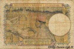 5 Francs type 1934 AFRIQUE OCCIDENTALE FRANÇAISE (1895-1958)  1941 P.21 B à TB