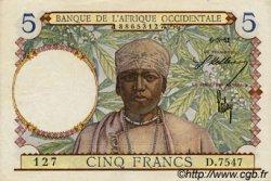 5 Francs type 1934 AFRIQUE OCCIDENTALE FRANÇAISE (1895-1958)  1941 P.21 TTB+ à SUP