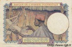 5 Francs type 1934 AFRIQUE OCCIDENTALE FRANÇAISE (1895-1958)  1941 P.21 pr.SPL