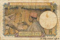 5 Francs AFRIQUE OCCIDENTALE FRANÇAISE (1895-1958)  1941 P.25 B+