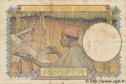 5 Francs type 1934 AFRIQUE OCCIDENTALE FRANÇAISE (1895-1958)  1941 P.25 TB+