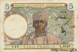 5 Francs type 1934 AFRIQUE OCCIDENTALE FRANÇAISE (1895-1958)  1941 P.25 TTB