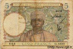 5 Francs type 1934 AFRIQUE OCCIDENTALE FRANÇAISE (1895-1958)  1942 P.25 B