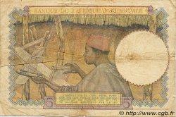 5 Francs type 1934 AFRIQUE OCCIDENTALE FRANÇAISE (1895-1958)  1942 P.25 TB