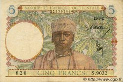 5 Francs FRENCH WEST AFRICA (1895-1958)  1942 P.25 VF+