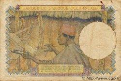 5 Francs type 1934 AFRIQUE OCCIDENTALE FRANÇAISE (1895-1958)  1942 P.25 pr.TB
