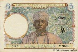 5 Francs type 1934 AFRIQUE OCCIDENTALE FRANÇAISE (1895-1958)  1942 P.25 TTB+