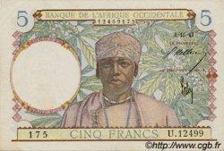 5 Francs type 1934 AFRIQUE OCCIDENTALE FRANÇAISE (1895-1958)  1942 P.25 SUP