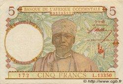 5 Francs type 1934 AFRIQUE OCCIDENTALE FRANÇAISE (1895-1958)  1943 P.26 TTB+