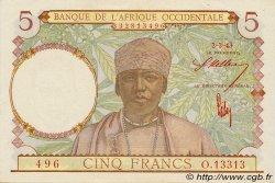 5 Francs type 1934 AFRIQUE OCCIDENTALE FRANÇAISE (1895-1958)  1943 P.26 pr.NEUF