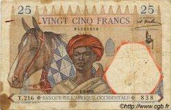 25 Francs type 1933 AFRIQUE OCCIDENTALE FRANÇAISE (1895-1958)  1936 P.22 pr.TB