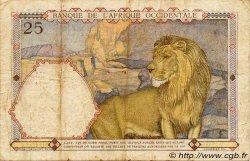 25 Francs AFRIQUE OCCIDENTALE FRANÇAISE (1895-1958)  1936 P.22 TB+