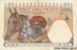 25 Francs AFRIQUE OCCIDENTALE FRANÇAISE (1895-1958)  1936 P.22 TTB+