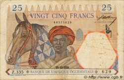 25 Francs FRENCH WEST AFRICA  1936 P.22 S