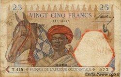 25 Francs type 1933 AFRIQUE OCCIDENTALE FRANÇAISE (1895-1958)  1937 P.22 TB