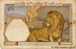 25 Francs type 1933 AFRIQUE OCCIDENTALE FRANÇAISE (1895-1958)  1937 P.22 TB+