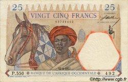 25 Francs type 1933 AFRIQUE OCCIDENTALE FRANÇAISE (1895-1958)  1937 P.22 TTB