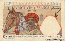 25 Francs type 1933 AFRIQUE OCCIDENTALE FRANÇAISE (1895-1958)  1938 P.22 pr.SUP