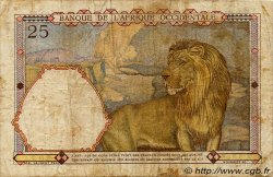 25 Francs type 1933 AFRIQUE OCCIDENTALE FRANÇAISE (1895-1958)  1939 P.22 B+