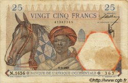 25 Francs FRENCH WEST AFRICA  1939 P.22 S