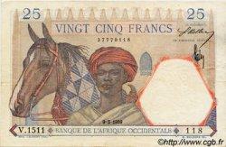 25 Francs AFRIQUE OCCIDENTALE FRANÇAISE (1895-1958)  1939 P.22 SUP