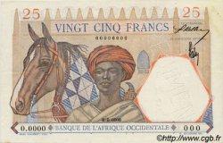 25 Francs type 1933 AFRIQUE OCCIDENTALE FRANÇAISE (1895-1958)  1942 P.27s SUP