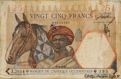 25 Francs type 1933 AFRIQUE OCCIDENTALE FRANÇAISE (1895-1958)  1942 P.27 B+