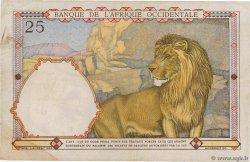 25 Francs type 1933 AFRIQUE OCCIDENTALE FRANÇAISE (1895-1958)  1942 P.27 TB+
