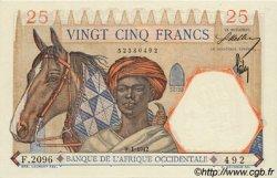 25 Francs AFRIQUE OCCIDENTALE FRANÇAISE (1895-1958)  1942 P.27 pr.NEUF