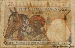 25 Francs type 1933 AFRIQUE OCCIDENTALE FRANÇAISE (1895-1958)  1942 P.27 B