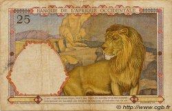 25 Francs type 1933 AFRIQUE OCCIDENTALE FRANÇAISE (1895-1958)  1942 P.27 TB