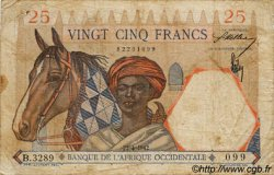 25 Francs AFRIQUE OCCIDENTALE FRANÇAISE (1895-1958)  1942 P.27 B