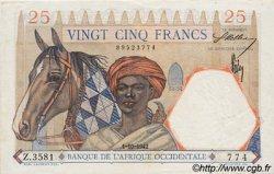 25 Francs type 1933 AFRIQUE OCCIDENTALE FRANÇAISE (1895-1958)  1942 P.27 SUP+