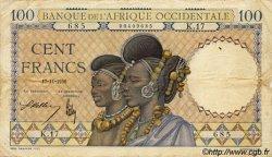 100 Francs type 1936 AFRIQUE OCCIDENTALE FRANÇAISE (1895-1958)  1936 P.23 TB+