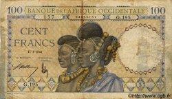 100 Francs AFRIQUE OCCIDENTALE FRANÇAISE (1895-1958)  1940 P.23 B