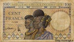 100 Francs AFRIQUE OCCIDENTALE FRANÇAISE (1895-1958)  1940 P.23 pr.TB