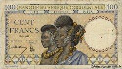 100 Francs AFRIQUE OCCIDENTALE FRANÇAISE (1895-1958)  1941 P.23 B