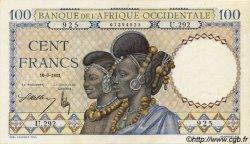 100 Francs AFRIQUE OCCIDENTALE FRANÇAISE (1895-1958)  1941 P.23 pr.NEUF