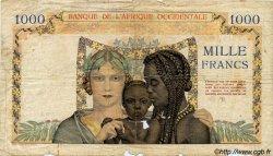 1000 Francs AFRIQUE OCCIDENTALE FRANÇAISE (1895-1958)  1937 P.24 pr.B