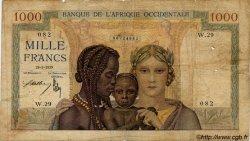 1000 Francs type 1937 AFRIQUE OCCIDENTALE FRANÇAISE (1895-1958)  1939 P.24 B