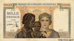 1000 Francs type 1937 AFRIQUE OCCIDENTALE FRANÇAISE (1895-1958)  1941 P.24 TB+