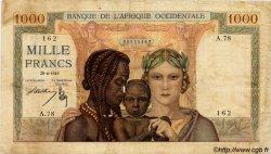 1000 Francs type 1937 AFRIQUE OCCIDENTALE FRANÇAISE (1895-1958)  1945 P.24 B+