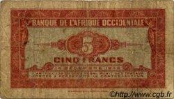5 Francs type 1942 AFRIQUE OCCIDENTALE FRANÇAISE (1895-1958)  1942 P.28a B