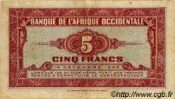 5 Francs type 1942 AFRIQUE OCCIDENTALE FRANÇAISE (1895-1958)  1942 P.28a TTB