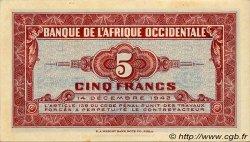 5 Francs type 1942 AFRIQUE OCCIDENTALE FRANÇAISE (1895-1958)  1942 P.28a SPL