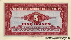 5 Francs FRENCH WEST AFRICA (1895-1958)  1942 P.28a UNC-
