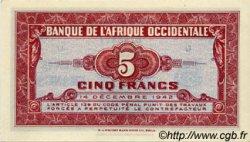 5 Francs type 1942 AFRIQUE OCCIDENTALE FRANÇAISE (1895-1958)  1942 P.28a pr.NEUF