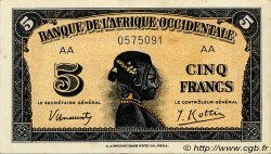 5 Francs type 1942 AFRIQUE OCCIDENTALE FRANÇAISE (1895-1958)  1942 P.28a TTB+