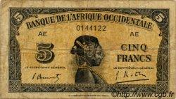 5 Francs type 1942 AFRIQUE OCCIDENTALE FRANÇAISE (1895-1958)  1942 P.28b B+